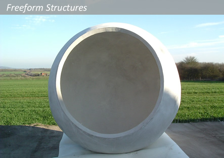 concrete spheres for Diarmuid Gavin